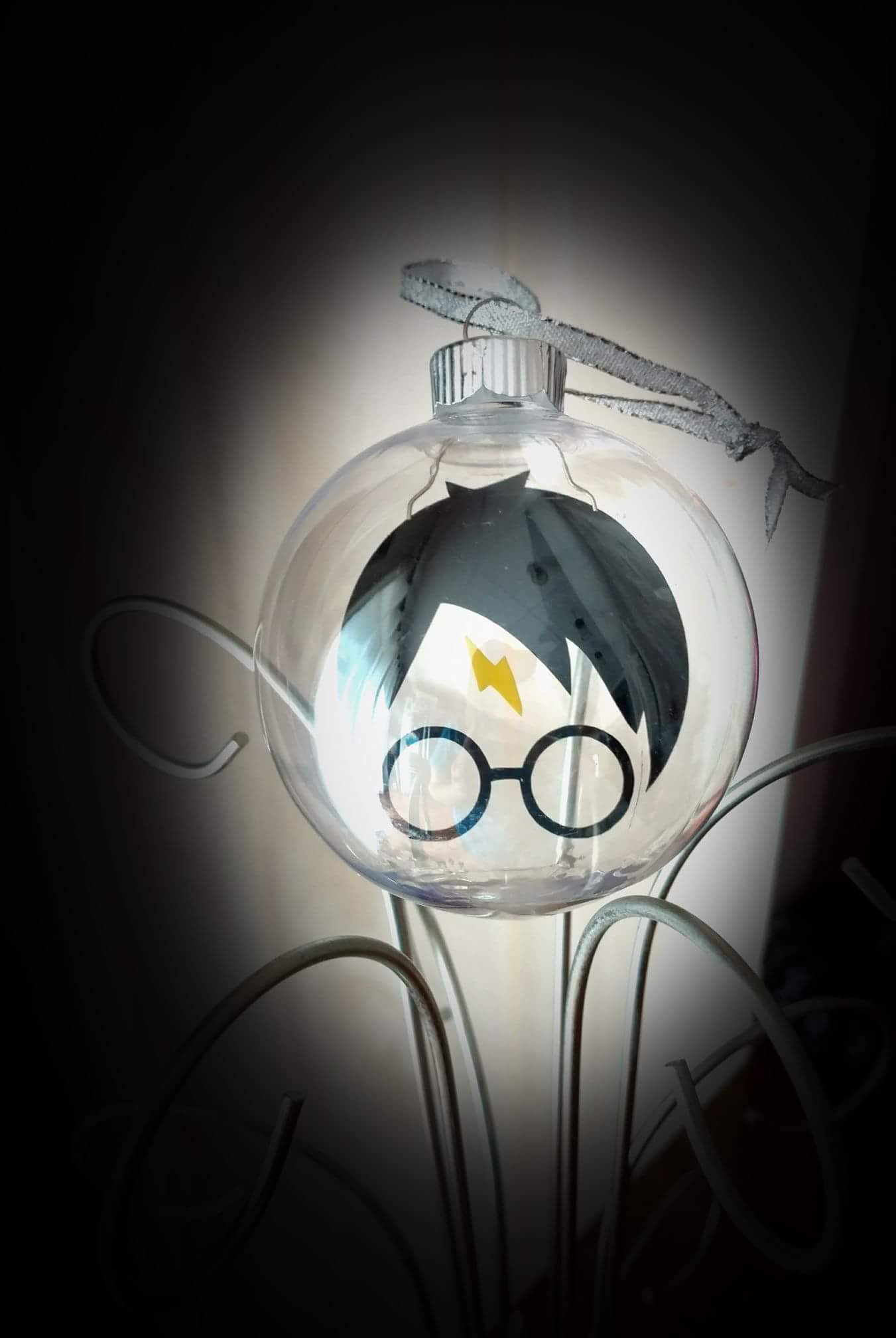 Crystal Ball Shaped Lamp Is Painted With Harry Potter Face