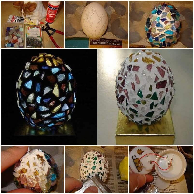 DIY Egg Shell Lighting