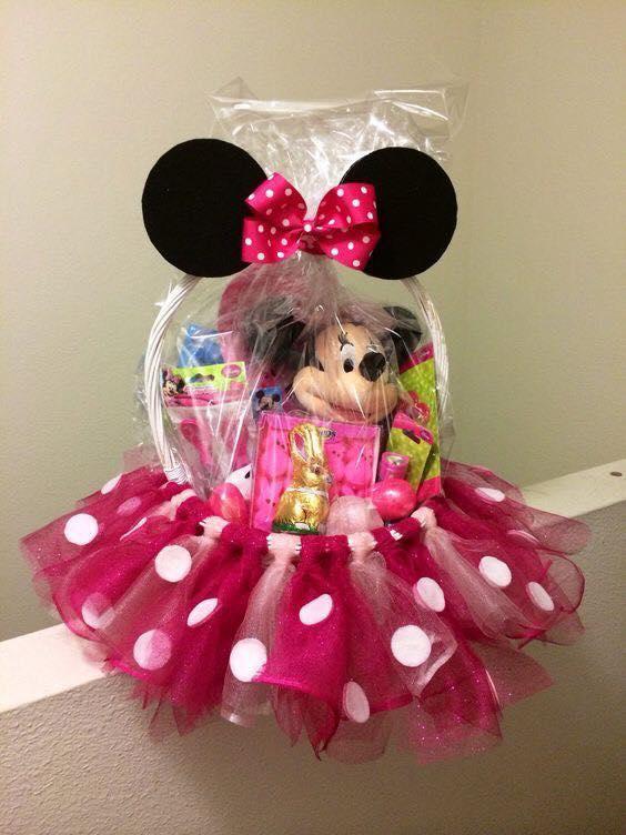 Dashing Barbie Dressed Easter Basket For Little Girls