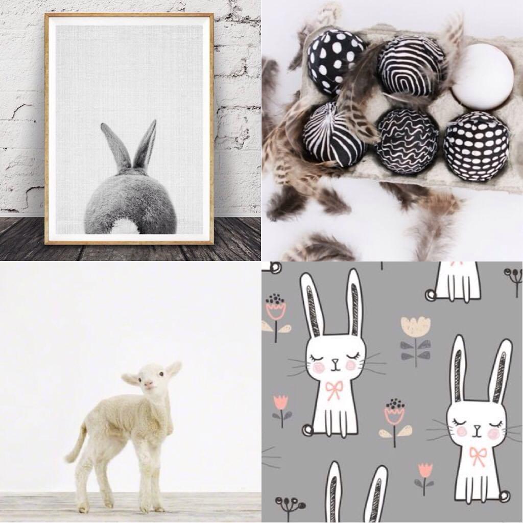 Designer Black & White Egg Decor Idea