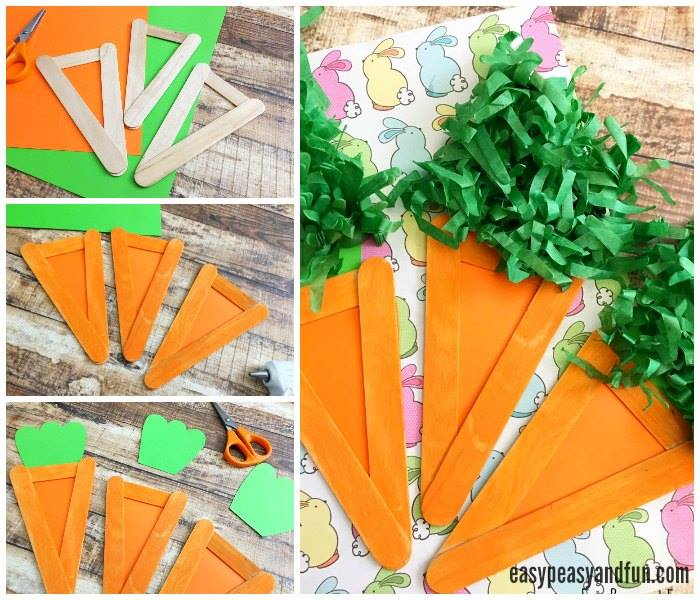 Easiest Easter Carrot Craft Idea For Kids