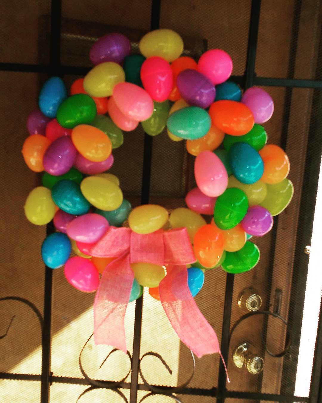 Easy Colorful Plastic Egg Arranged As Wreath At This Easter
