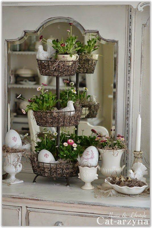 Egg And Flowers Easter Kitchen Decoration
