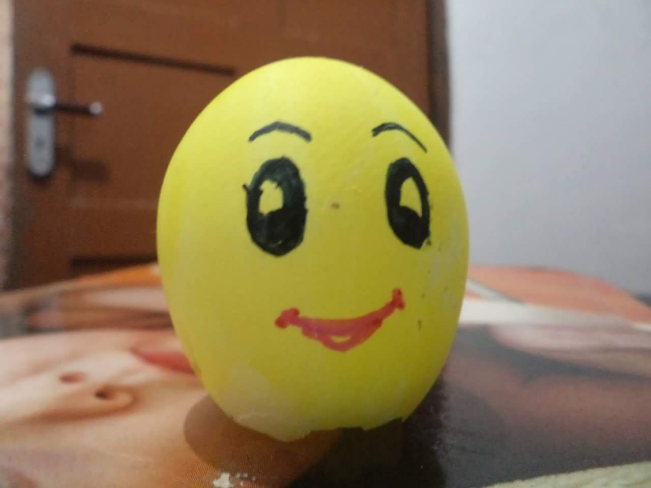 Egg Shell Painted As Smiley