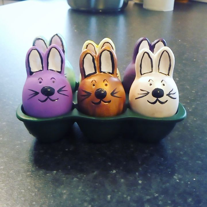Eggs Decorated As Bunny