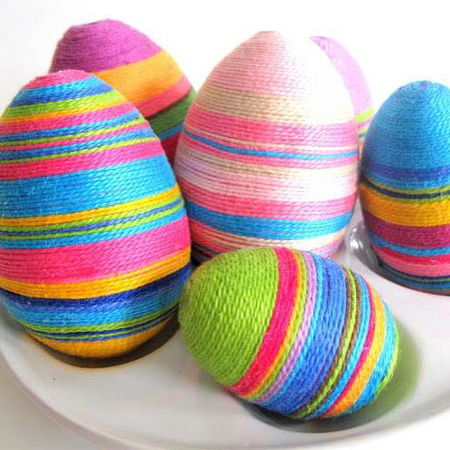 Eggs Decorated With Twine