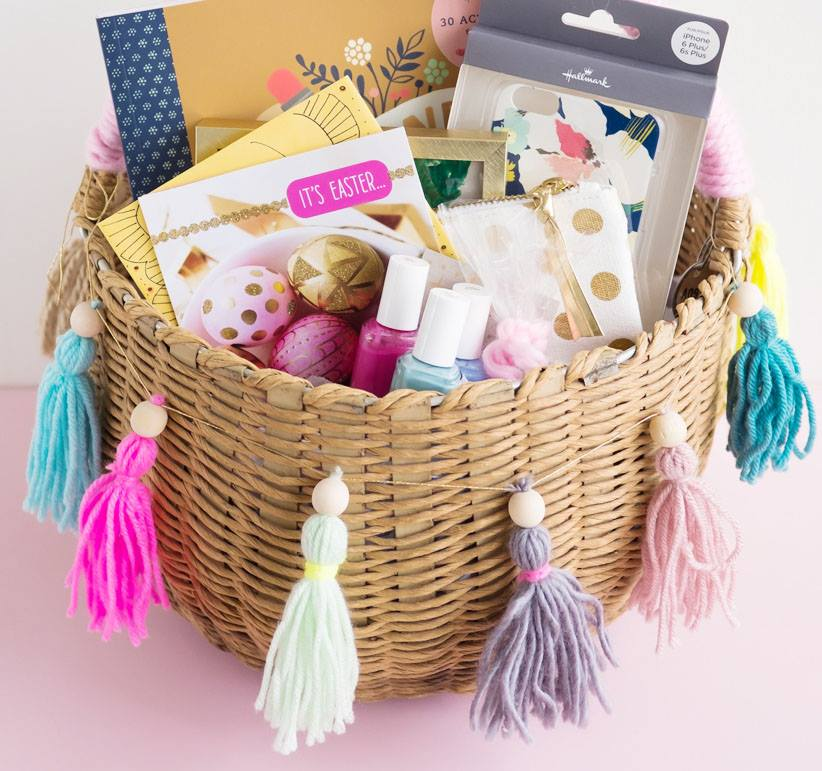 Best 55 easter basket ideas you will love 26 exclusive easter basket ideas for teens with makeup via negle Choice Image