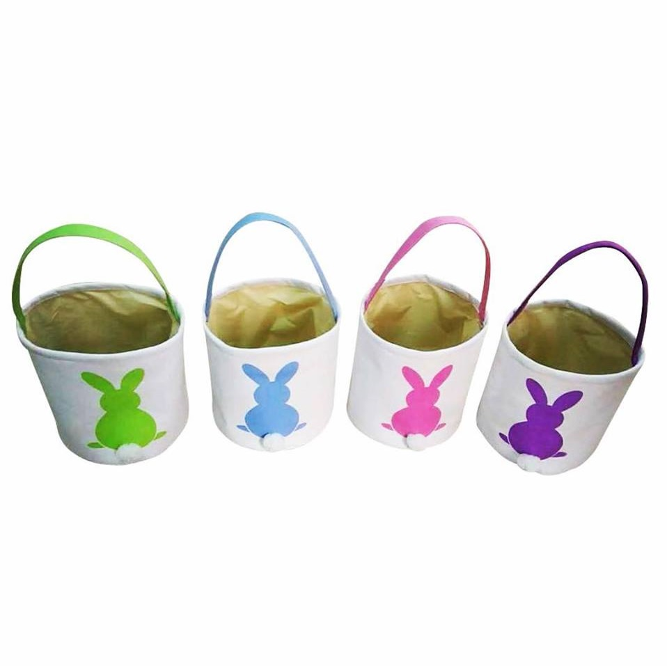 Exquisite Bunny Print Basket For Ester Gift