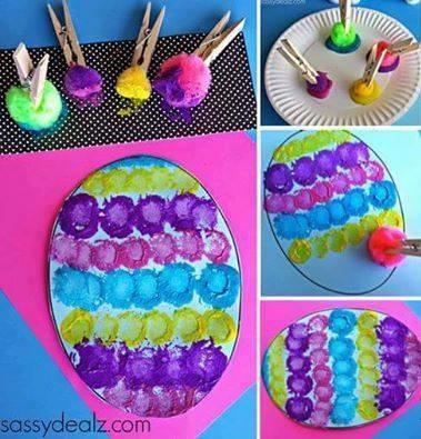 Exquisite Pom-Pom Easter Egg Painting