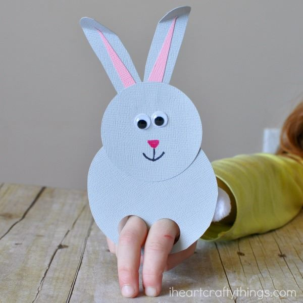 Eye Catching Bunny Finger Puppet Craft