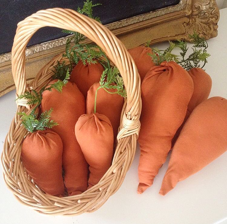 Fabric Carrots Made By Old T-Shirt