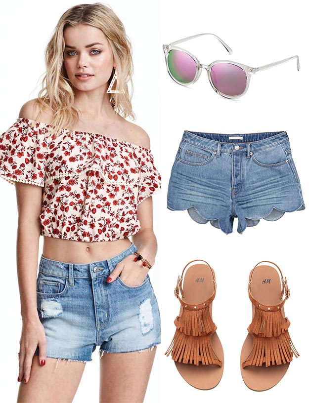 Fabulous Denim Cutoffs And Sandals Perfect Spring Style Beach Wear
