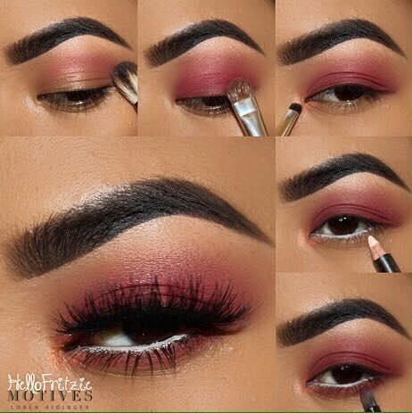 Fantastic Rose Summer Eye Makeup With White Liner
