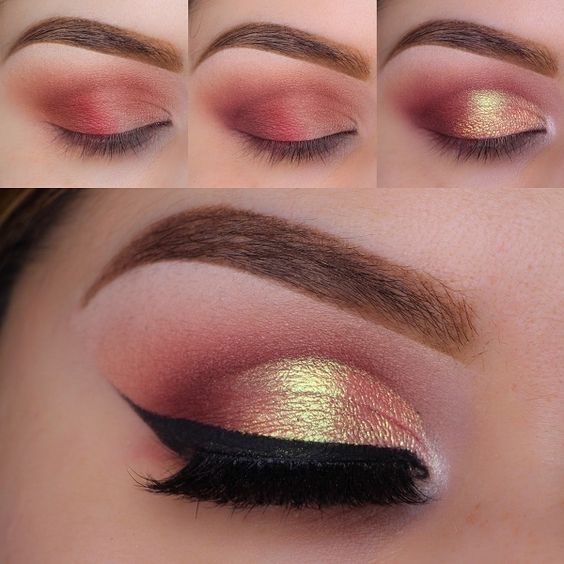 Festive Brown And Red Fusion Eye For Summer Party