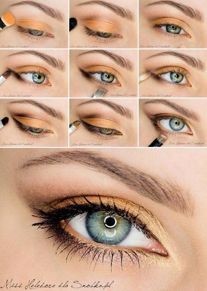 Flawless Orange Eye Makeup Tutorial