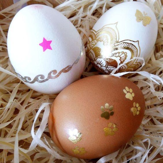 Golden Easter Egg Decor