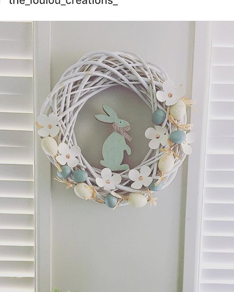 Gorgeous Criss Cross Paper Flower And Bunny Wreath