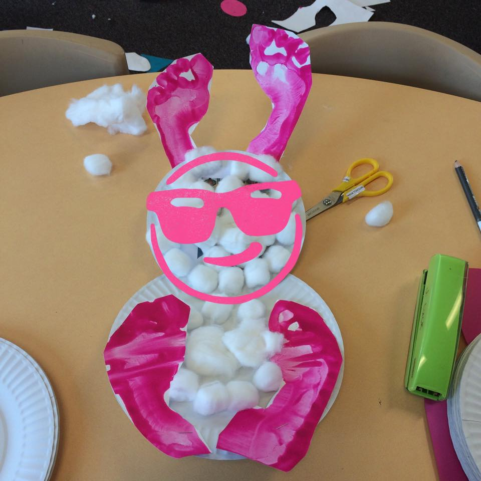 Happy Easter Paper Plate Bunny Made By Kids