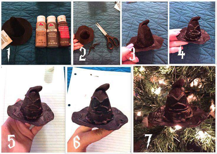 Harry Potter Hogwarts Hat Ornament Step By Step