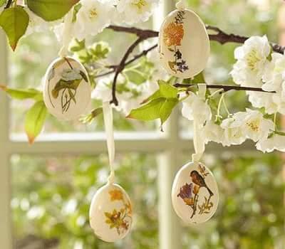 Impressive Floral Printed DIY Egg Shells
