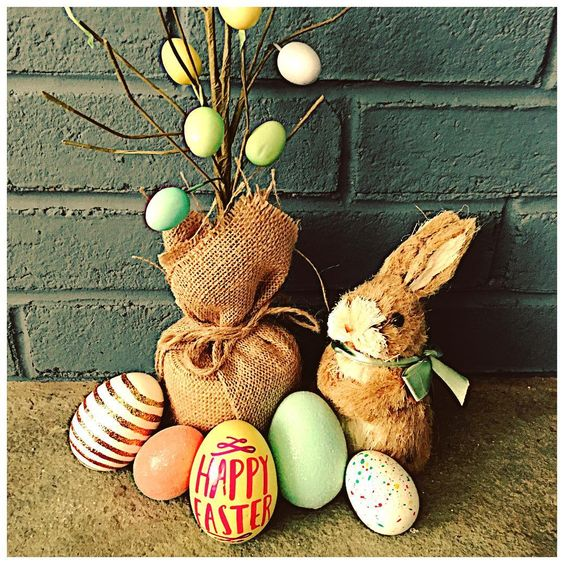 Incredible Easter Eggs, Bunny And Tree