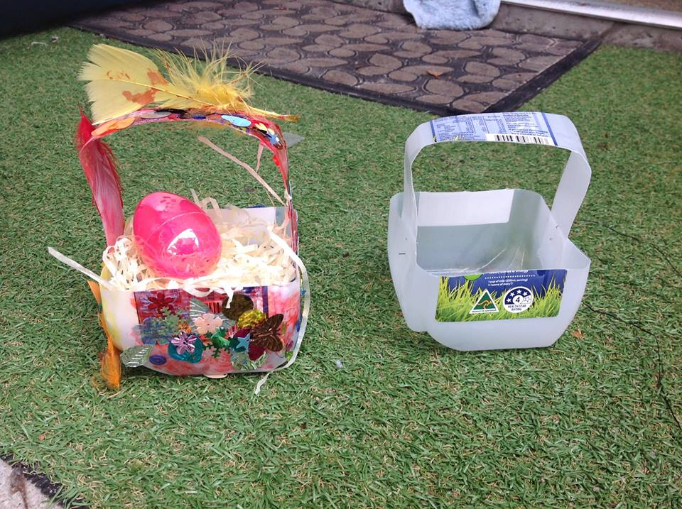 Inexpensive And Sustainable Milk Bottle Easter Basket