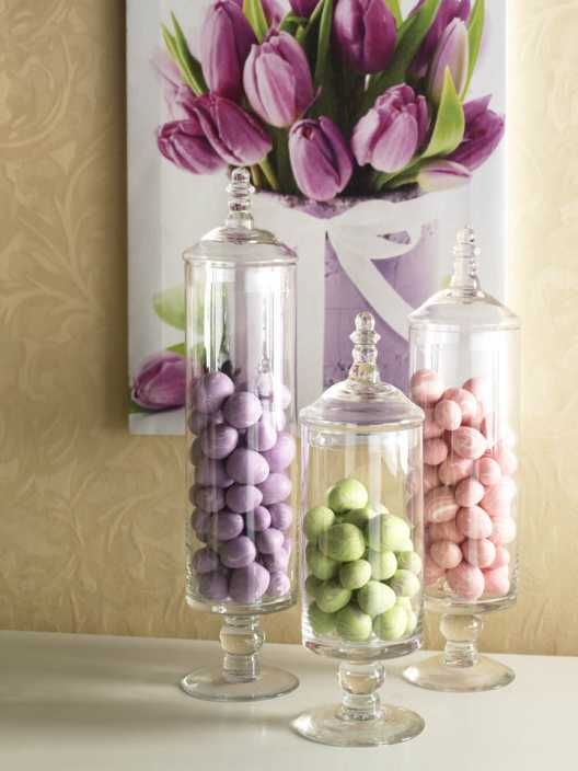 #33 Jars Filled With Eggs And Tulip Painting Via