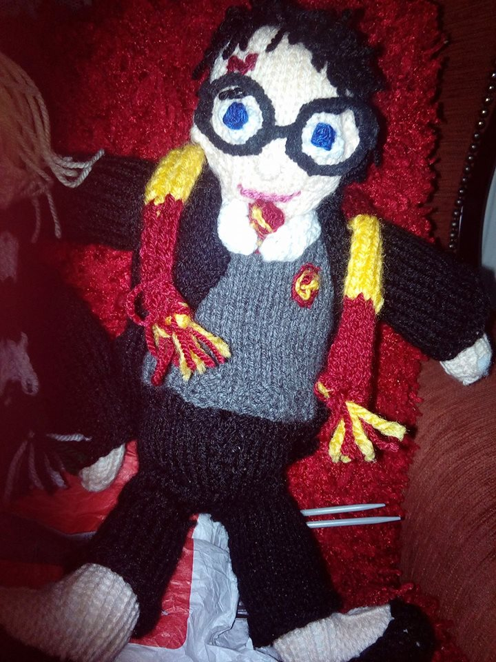 Knitted Harry Potter Doll Idea