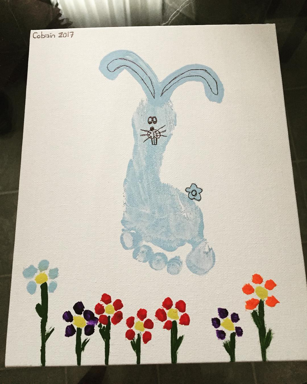 Little Foot Print Bunny For Easter