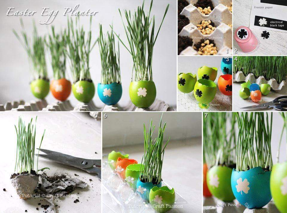 Marvelous Easter Egg Planters For Home At Easter