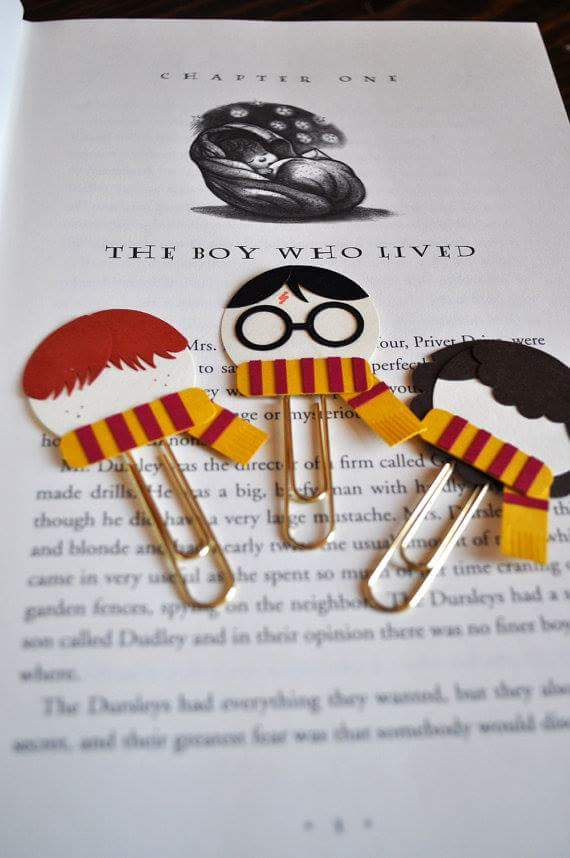 Marvelous Harry Potter Paper And Gems Clip Bookmarks For Kids