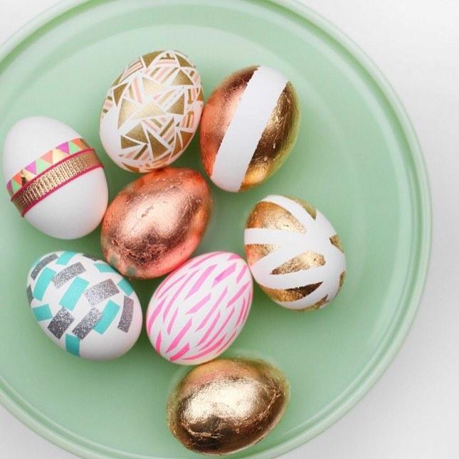 Metallic Easter Egg Decoration Idea