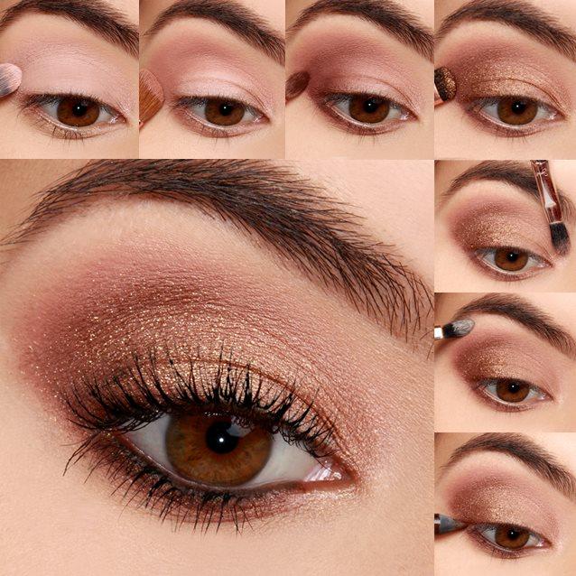 Mid Summer Bronze Shimmery Eye Makeup Tutorial