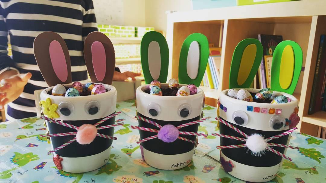 Mugs Decorated As Bunny