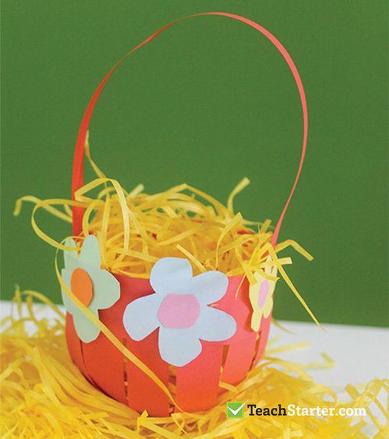 Paper Basket For Easter