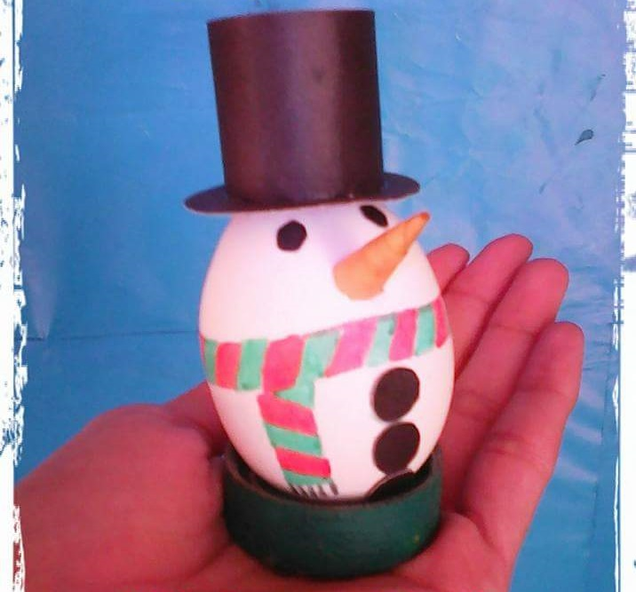 Perfect Egg Shell Snowman
