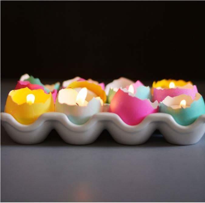 Pretty Half Broken Egg Shell Candles