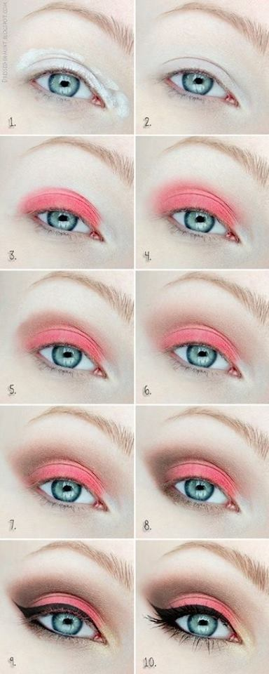 Pretty Pink Summer Look To Pop Up Your Eyes In Summer
