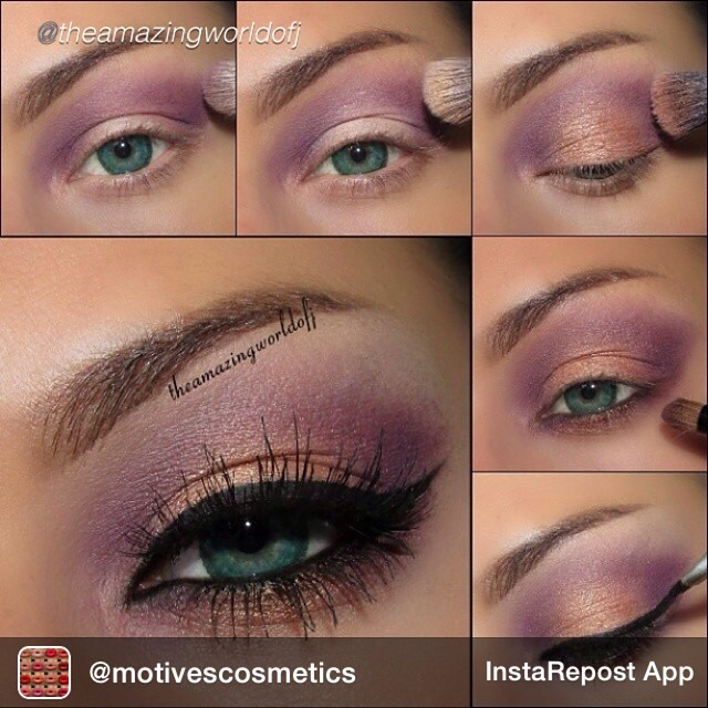 Purple With Golden Eye Makeup Tutorial