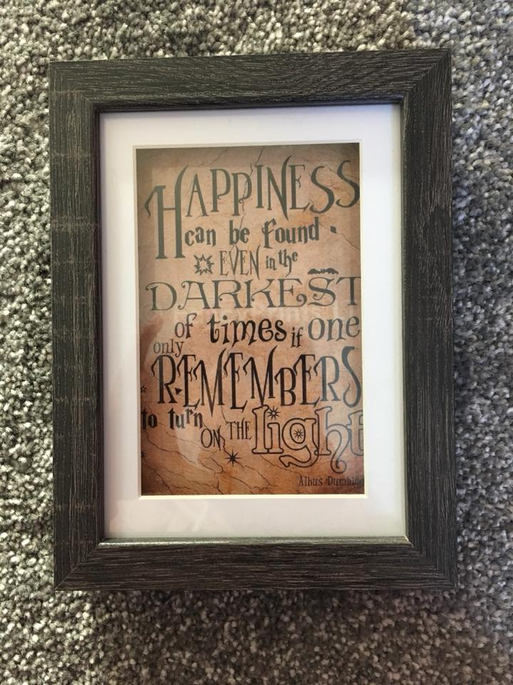 Quote From Harry Potter Book Is Framed