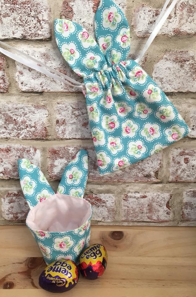 Ravishing Fabric Bunny Bag & Basket For Easter