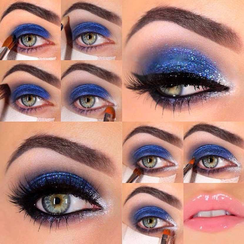 Shimmery Eye Makeup For Summer Party