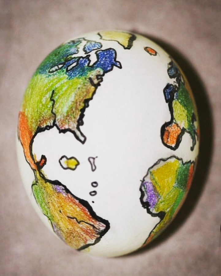 Smart Way To Draw Map On Egg For Easter