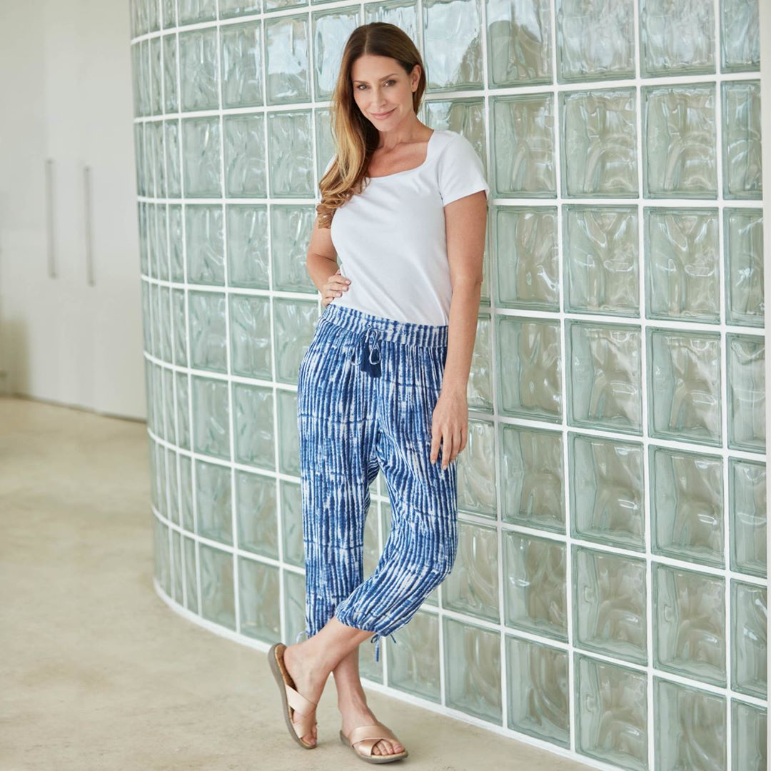 Soft And Flowy Textured Pant With Simple Top Perfect For Warm Day