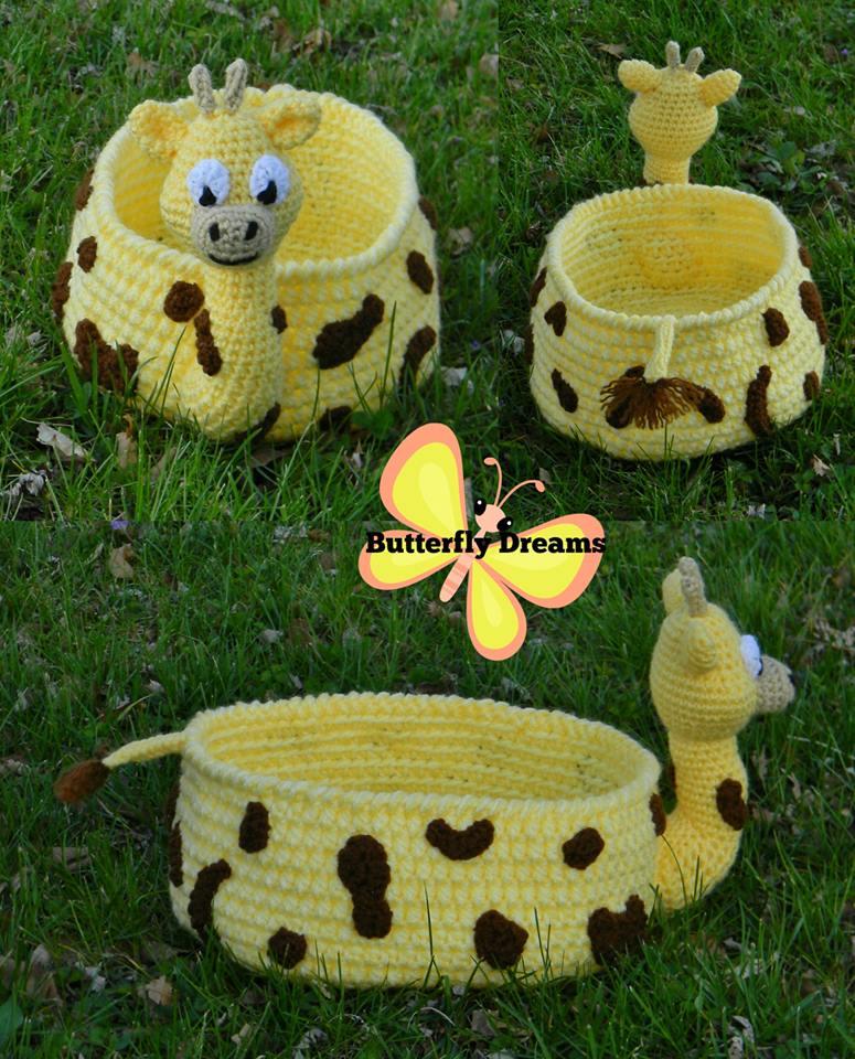 Stunning Crochet Giraffe Basket Design