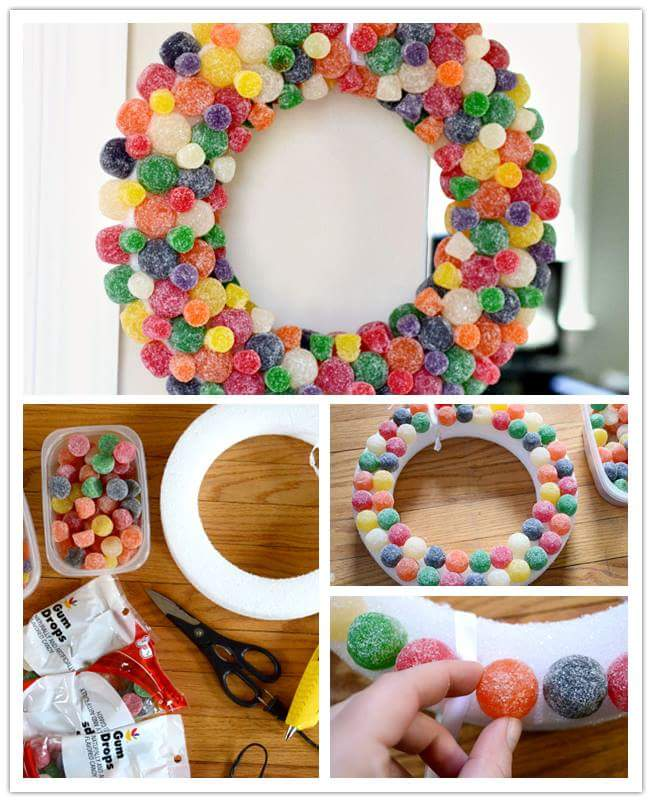 Sugar Candy Easter Wreath For Kids