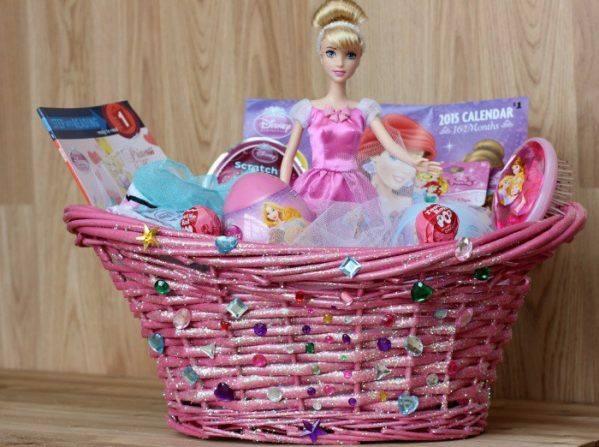 Swanky Barbie Basket To Send on Easter For Little Girls