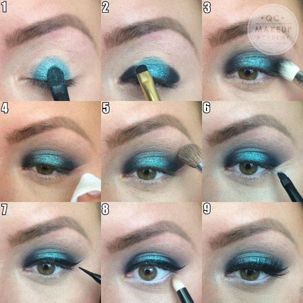 Tropical Blue Summer Eye Makeup
