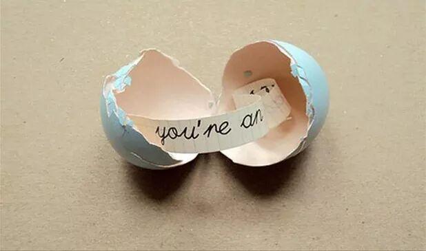 Unique Messenger Inside The Egg Shell
