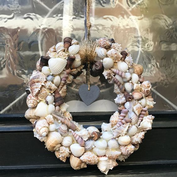 Unique Shell Wreath To Decorate Your Door